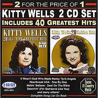 Kitty Wells - 40 Greatest Hits [CD] USA import