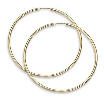"""14K Gold Hoop Earrings - 2 1/8"""" diameter (2mm thickness)"""