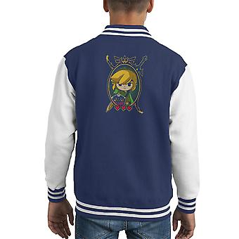 Held der Zeit Portrait Legend Of Zelda Kid Varsity Jacket