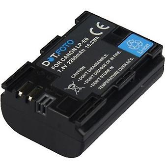 Dot. foto LP-E6 PREMIUM udskiftning genopladeligt højkapacitetsbatteri til Canon EXTRA-7.4 v/2200mAh [Se beskrivelse af kompatibilitet]