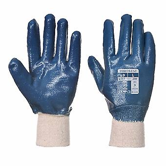 Portwest - Nitrile Knitwrist Aqua Grip Glove (1 Pair pack)