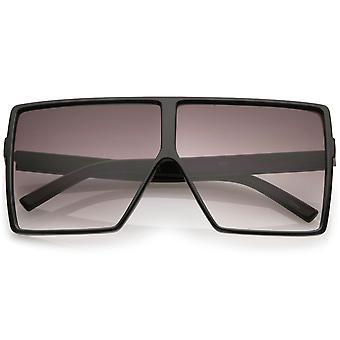 Super ylisuuret Square aurinkolasit Flat Top neutraali väri tasainen linssi 69mm