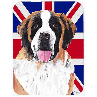 Saint Bernard Englanti Union Jack Britannian lipun lasi leikkaus hallituksen suuri Siz