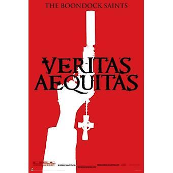 Les Saints Boondock Veritas rouge affiche Poster Print