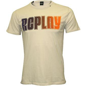 Replay Multicolour Logo T-Shirt, Ice