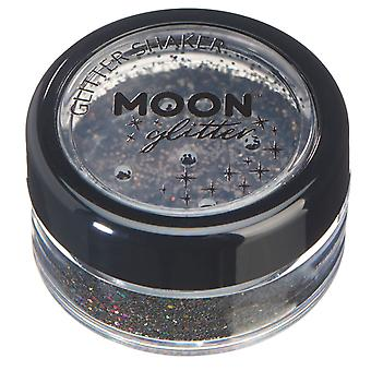Holographic Glitter Shakers by Moon Glitter – 100% Cosmetic Glitter for Face, Body, Nails, Hair and Lips - 5g - Black