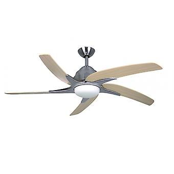 Ceiling fan Viper Plus Stainless Steel with lighting 137 cm / 54