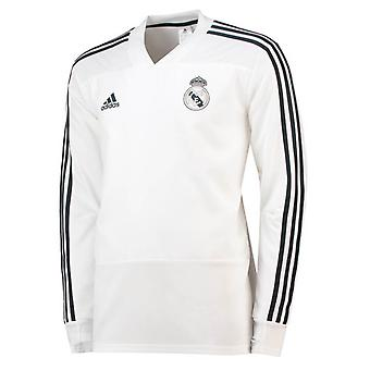 2018-2019 Real Madrid Adidas Training Top (White)