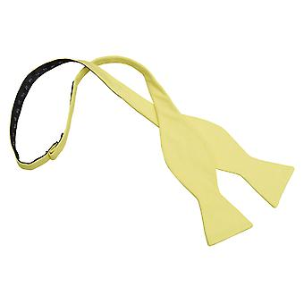 Light Yellow Chambray Cotton Thistle Self Tie Bow Tie