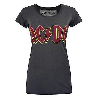 放大妇女/女士AC/DC标志木炭T恤