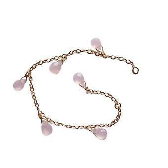Bracelete pulseira pulseiras quartzo de rosa ROSSA banhado a ouro