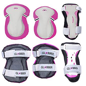 Junior Protective Pad Set (XXS) - Elbow Pads, Wrist Pads and Knee Pads - Pink -