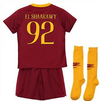 2018-2019 como Roma casa Nike Little Boys Mini Kit (El Shaarawy 92)