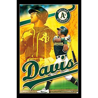 Oakland Athletics - Khris Davis Poster afdrukken