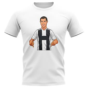 Cristiano Ronaldo Juventus Gunnerballz T-Shirt (White)