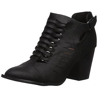 Qupid Womens Prenton-05X Almond Toe Ankle Fashion Boots
