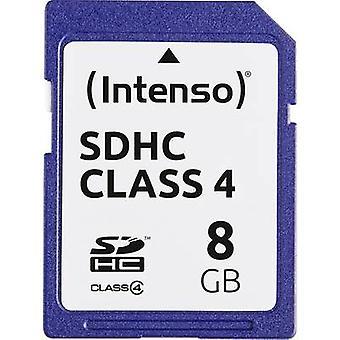 Intenso blå SDHC-kort 8 GB klass 4