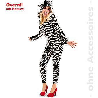 Zebra buksedragt kvinders kostume Zebra buksedragt Afrika KapuzenoverallWildpferd damer kostume