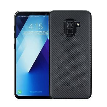 Samsung Galaxy A8 (2018) Carcasa de fibra de carbono-Negro