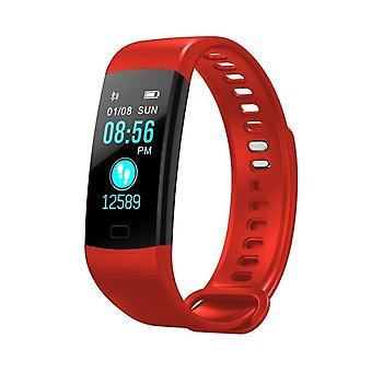 Y5 multifunctional activity bracelet with color screen-red