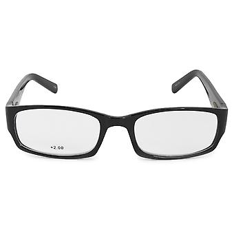 Harley Davidson Rectangular Reading Eyeglasses HDV3005 BLK 54 +2.0