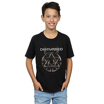 الأولاد الانزعاج معدنية شعار تي شيرت