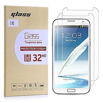 Extra gehärtetes Panzerglas für Samsung Galaxy Note 2 N7100 - 2er-Pack