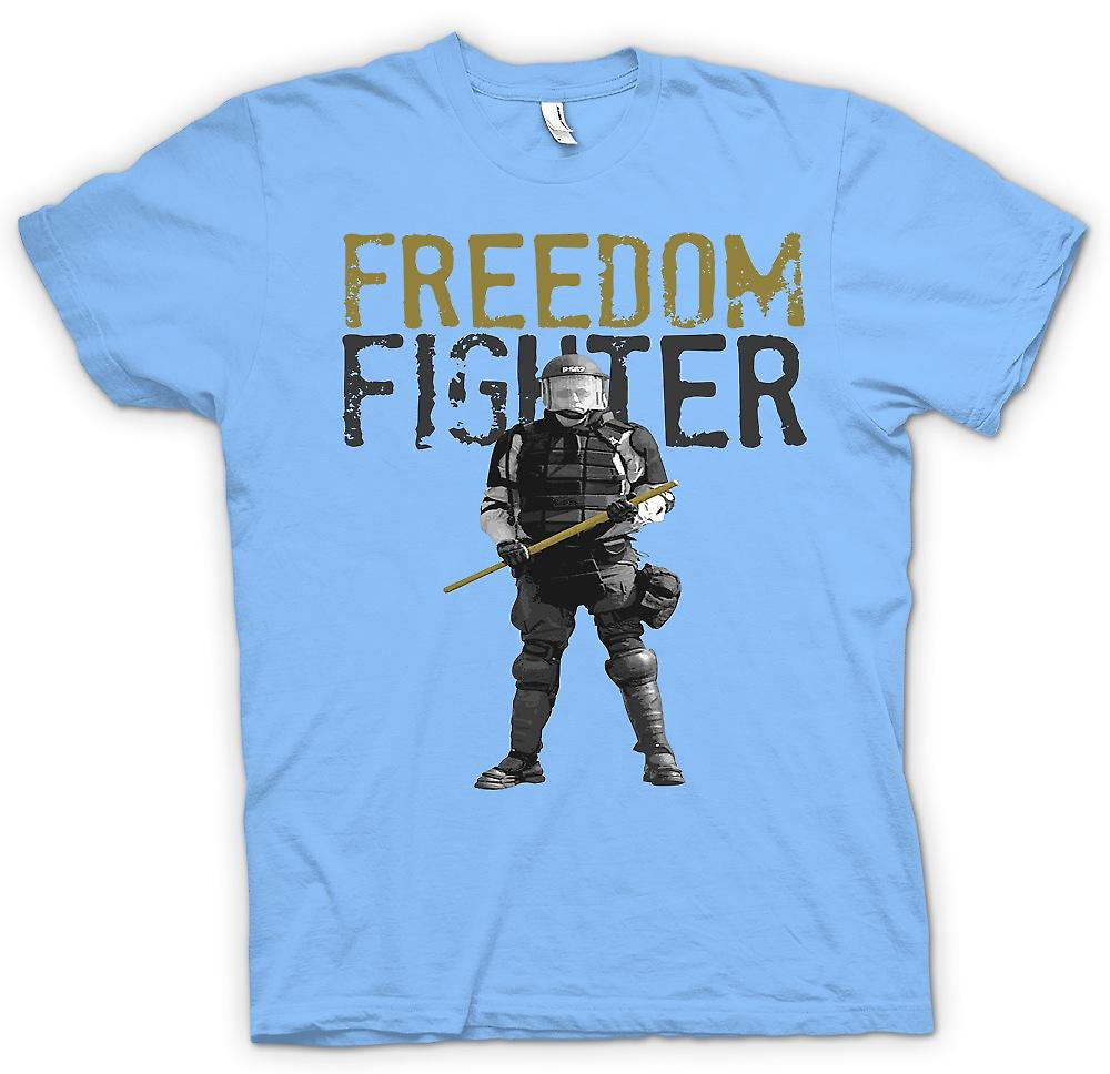 Womens T-shirt - Freedom Fighter - Police State | Fruugo