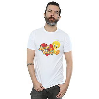Looney Tunes mäns Tweety paj alla hjärtans dag kärlek fågel T-Shirt
