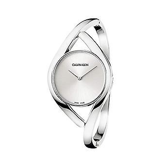 Calvin Klein women's Quartz analogue watch with stainless steel band K8U2S116