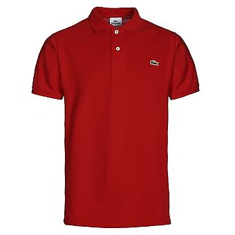 Lacoste-L1212 rot Classic Fit Pique Polo-Shirt