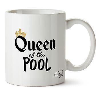 Hippowarehouse królowa pływania basen Wydrukowano Kubek Kubek ceramiczny 10oz