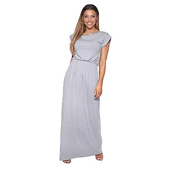 KRISP Donne Oversize Batwing Sleeve Loose Top Stretch High Waist Jersey Maxi Abito Maxi