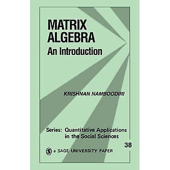 Matrix Algebra An Introduction by Namboodiri & Krishnan
