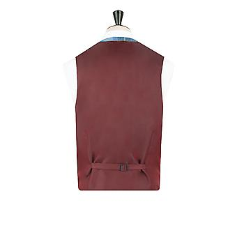 Scottish Harris Tweed Mens Blue Check Tweed Waistcoat Regular Fit 100% Wool Notch Lapel