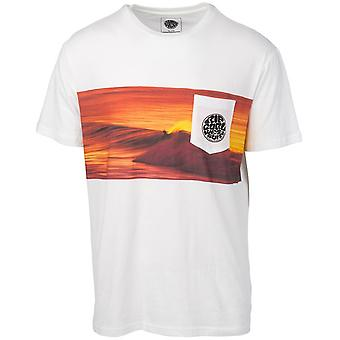 Rip Curl Action Original Short Sleeve T-Shirt in White