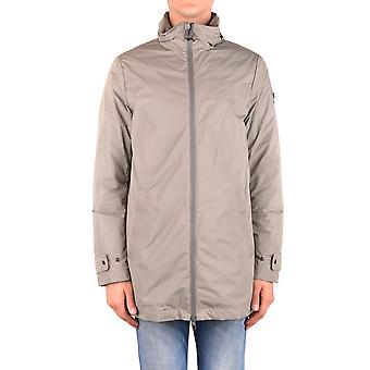 Moncler Ezbc014060 Men's Grey Nylon Outerwear Jacket