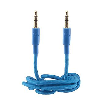 Urbanz Cord 3.5mm to 3.5mm Premium Auxiliary Audio Aux to Aux Cable - Neon Blue
