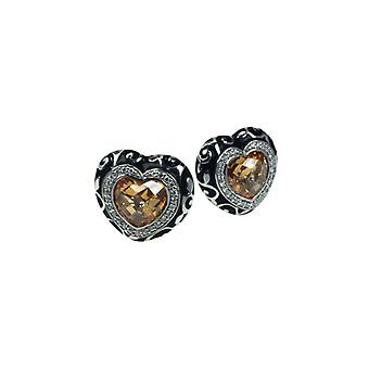 Belle Etoile Royale Heart Champagne Earrings 3020811002