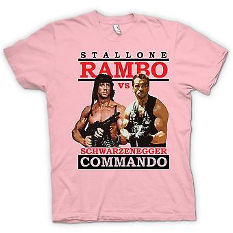 T-shirt Mens-Rambo ou Commando - ação - herói