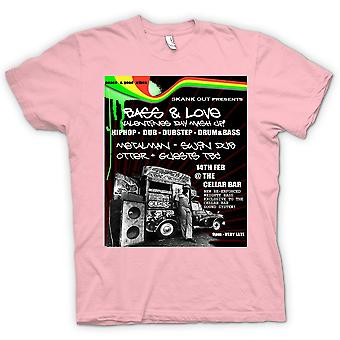 Womens T-shirt - Bass & Love - Hip Hop - Dub