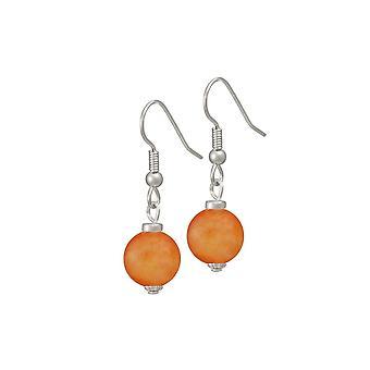 Eternal Collection Hacienda Orange Jade Drop Pierced Earrings