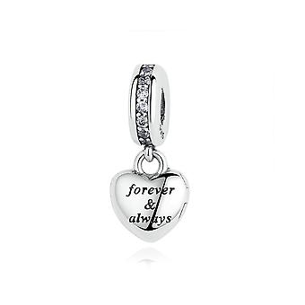 Sterling argent pendentif charme pour toujours - toujours ma belle femme