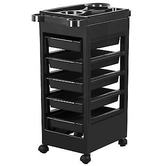 5 drawer Monochrome Salon Hairdressing Beauty Storage Trolley