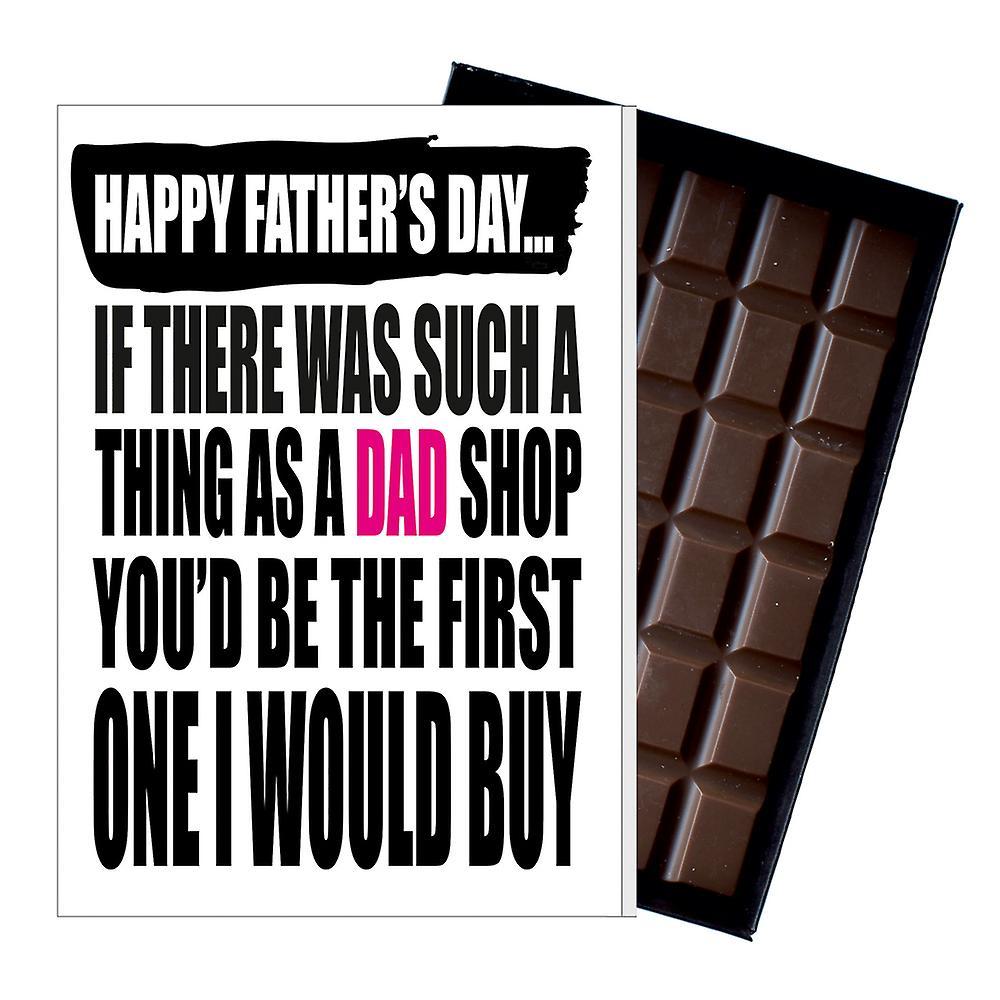 Funny Father's Day Gift Silly Chocolate Present Grampy dad Grandad DADIYF103