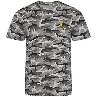 21st lancers Empress Of Indias Veteran - Licensed British Army Embroidered Camouflage Print T-Shirt