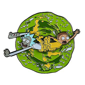 Rick a Morty Rick a Morty otáčející se sklovitý PIN