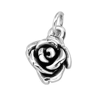 Electroform Rose Pendant - 925 Sterling Silver Silver Heavy - W38960X