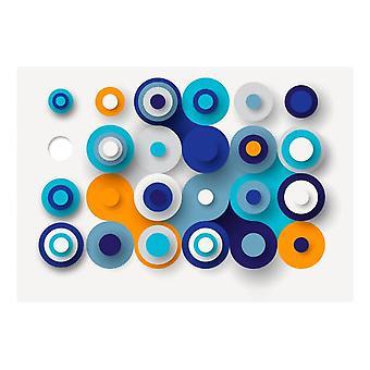 Artgeist Fotomural Geometry Of Blue Wheels