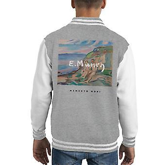 A.P.O.H Edvard Munch Beach Painting Memento Mori Kid's Varsity Jacket